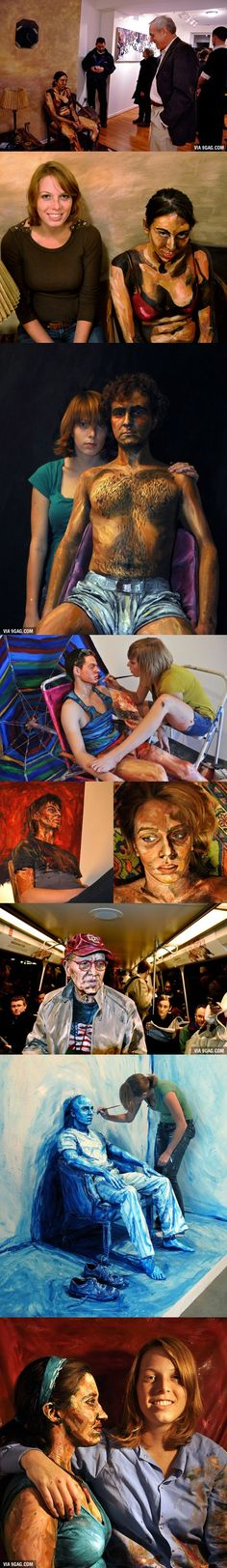 Using humans as canvases. Amazing art by Alexa Meade
