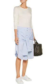 T by Alexander WangCotton-poplin shirttail skirtfront
