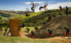 While we normally stick strictly to surf and ocean photography, some action sports images from the Red Bull Illume contest came through and they are insane. Bmx, Red Bull, Bike Magazine, Surfing Tips, Downhill Bike, Mtb Bike, Sup Surf, Water Photography, Creative Photography
