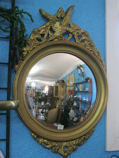 Vintage Federal Concave Mirror https://www.facebook.com/pages/The-Lions-Lair-Antiques-Home-Decor-Mall/448622155184875