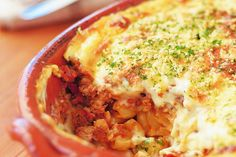 Pastitsio fit for the gods - Make delicious beef recipes easy, for any occasion Vegetarian Cheese, Beef Recipes, Cauliflower, Easy Meals, Vegetables, Fit, Blues, Greek, Mood