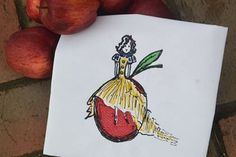 Embroidery Digital File Snow White's Apple by NicolaElliott