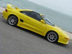 Yellow Toyota MR2