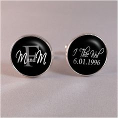 Personalized Groom Cufflinks and Tie Tack Set by DestinationLtd