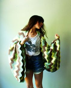 zig zag missoni shrug cropped sweater with by WhatsOliviaWearing, $100.00