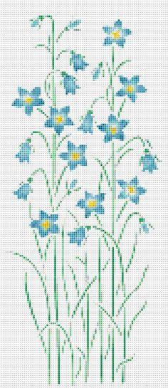 Flores silvestres azules cruz puntada patrón flor Floral Wall Art  PATRÓN DE PDF SÓLO    Tela: Aida 14 de la cuenta Contado en punto de Cruz Puntos: 87 x 201 Tamaño: 6,21 x 14.36 pulgadas o cm de 15.78 x 36.47 Colores: DMC Count: 54 Plantilla      Referencia XSTCH-00236  Usted recibirá este patrón como descarga digital y necesita Adobe Acrobat para visualizarlo. Adobe Acrobat Reader se puede descargar en www.adobe.com.  Todos los patrones son generados por computadora y recibe el patrón…