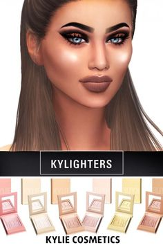 Kenzar Sims: Cosmetics Kylighters • Sims 4 Downloads