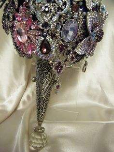 The Rebekah brooch bouquet designed by Crystal Brooch Bouquets Inc.