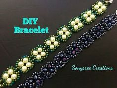 Quick and Easy beaded bracelet - YouTube