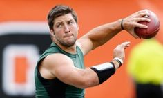 New York Jets quarterback, Tim Tebow, readies for the start of the NFL season. #Tebow #NFL #Jets