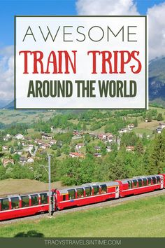 20 absolutely fantastic rail trips to take across Europe, the US and around the world. Train travel inspiration for rail lovers! #trains