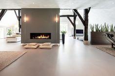Landelijk vs modern: woonboerderij met strakke gietvloer | Creative Floors | OBLY.com inspiratieplatform & blogazine luxe wonen