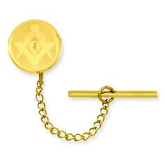 Gold-plated with Chain Masonic Tie Tack GP3824
