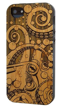 Bubble Up - Bamboo - octopus iphone case made of bamboo
