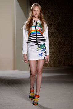 Look 10 from Fay Women's Spring - Summer 2014 collection seen on the catwalk.