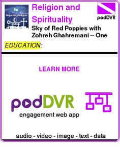 #EDUCATION #PODCAST  Religion and Spirituality (Audio)    Sky of Red Poppies with Zohreh Ghahremani -- One Book One San Diego Author Talk -- Library Channel    READ:  https://podDVR.COM/?c=c5cd9626-820b-88ec-eb6d-61d32093b0e0