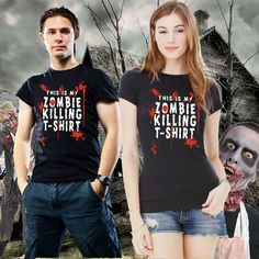 Zombie Killing T Shirt Walking Dead Womens T Shirts Small to 3XL