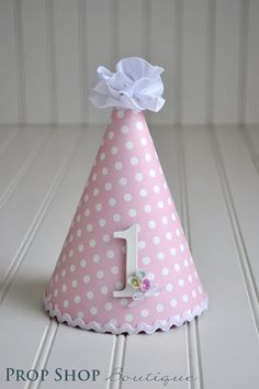 Girls Classic 1st Birthday Hat Photo Prop by propshopboutique,