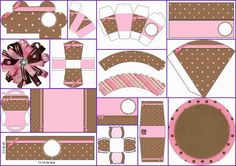 Pink and Brown with Polka Dots Free Printable Quinceanera Party Kit. Baby Girl Birthday, Birthday Gifts For Girls, Horse Birthday, Quinceanera Invitations, Quinceanera Party, Free Printable Invitations, Free Printables, Party Printables, Beatles Party