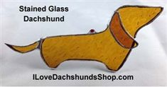 Stained Glass Dachshund