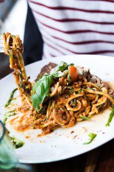 Vegan raw food pasta in Berlin