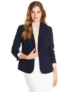 Jones New York Women's Emma Solid Waist-Seam Blazer * Check out the image by visiting the link.