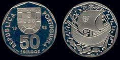 50$00 na Moeda Portuguesa - Escudos #moedas #coin #Portugal