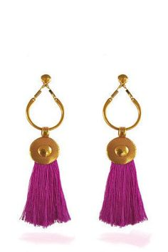 Gold tassel earrings 12cm  4.7 inch handmade  gold plated