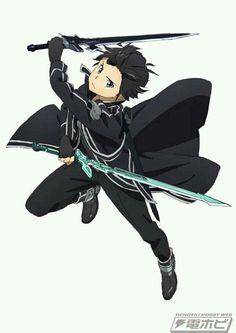 """Sword Art Online"" Getting a Board Game Adaptation Titled ""Sword of Fellows"" Sword Art Online Kirito, Arte Online, Online Art, Star Citizen, Sao Anime, Manga Anime, Manga Girl, Sword Poses, Sao Characters"