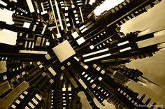 abstrakshun: katialeephotography: Incepted Il Disco Arnaldo Pomodoro - 1980 Piazza Meda, Milano