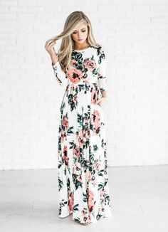 Autumn Long Dress Floral Print Boho Dress Tunic Maxi Dress Plus Size Women Party Dresses Sundress Vestidos Retro Robe Size S Color 0320 Dark Blue Vestido Maxi Floral, Floral Print Maxi Dress, Long Sleeve Floral Dress, Pleated Maxi, Pleated Dresses, Chiffon Maxi, Print Chiffon, Cotton Dresses, Strapless Dress