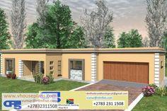 RDM5 House Plan No. W2555 2 Bedroom House Plans, My House Plans, House Floor Plans, Flat Roof House Designs, Cool House Designs, Fancy Houses, Garage Plans, Ambition, Farm House