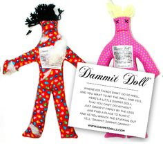 Stressed out from work but it's not break time yet? Just take out your Dammit Doll and take a couple hits at it to relieve yourself from some of those daily stresses! What situations have you busted out your Dammit Doll?
