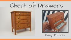 Chest of Drawers - Traditional Style (By Gabriel Weiss) My new collection of miniature furniture, I bring in this video a series of furniture in the Traditio.