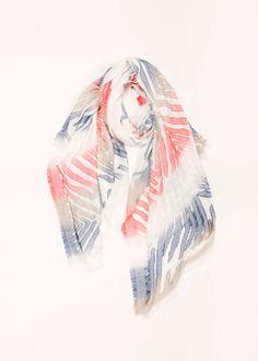 Gradient Zebra Scarf - Blue ................... #lookbym #scarf #scarves #lightweight #spring #accessories #womensfashion #trend #trendy #ootd #gradient #zebra #print #musthave #purple #blue #pastel #colorful