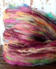 cobbler batt  fiber art batt for spinning and by handsandnotions, $25.00