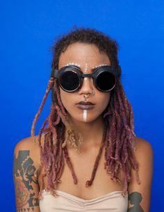 Vogue's Afro Punk Hairstyles Series by Artist Awol Erizku Black Girl Magic, Black Girls, Black Women, Afro Punk Fashion, Hippie Man, Black Goth, Hair Inspiration, Hair Inspo, Character Inspiration