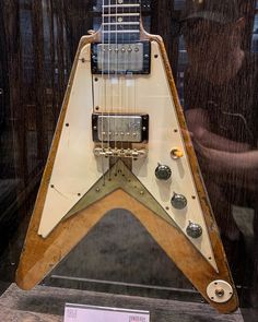 1958 Gibson Flying V from Gibson Electric Guitar, Electric Guitars, Gibson Flying V, Guitar Design, Vintage Guitars, Cool Guitar, Cool Stuff, Guitars