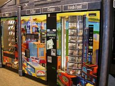 Vending machines - upscale vending in our cafe area: Grub at the Hub