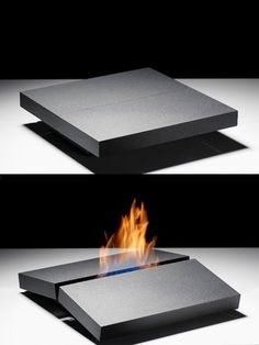 Fireplace on your Coffee Table by Porsche Studio Design. I don't even have a coffee table (and never will, yuck) but am intrigued by this thing. Cool Furniture, Furniture Design, Futuristic Furniture, Garden Furniture, Furniture Ideas, Beton Design, Cool Gadgets, Cheap Gadgets, Tech Gadgets