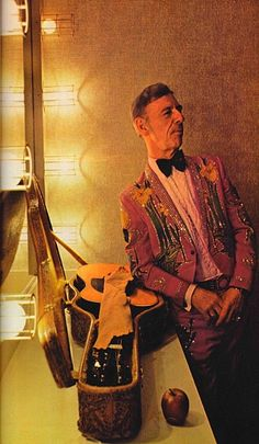 Hank Snow backstage in Nashville, Tennesse. Originally this photo appeared in National Geographic, May 1978.