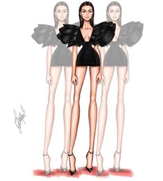 #VanityFairParty #Oscars2018 #KendallJenner @ldochev #FashionIllustrations |Be Inspirational ❥|Mz. Manerz: Being well dressed is a beautiful form of confidence, happiness & politeness