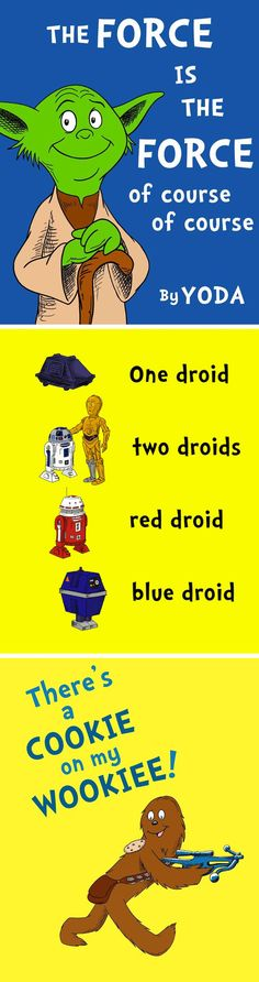Seuss & Star Wars : cute Paging Jill, Ricky and Amanda! Seuss & Star Wars : cute Paging Jill, Ricky and Amanda! Starwars, Sean Parker, Just In Case, Just For You, Dr. Seuss, Mundo Comic, Rick Y, Star Wars Day, Star Wars Stuff