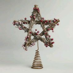 Iced berry tree topper from World Market