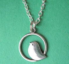 SILVER BIRDIE NECKLACE. $17.00.  I'll confess, I really love this little bird!
