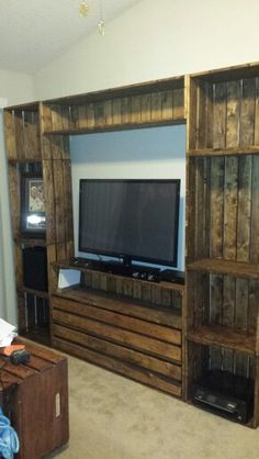 Crate entertainment center