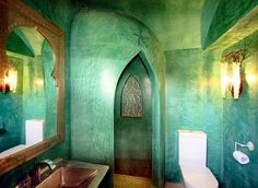morrocan.. i love the color of the walls