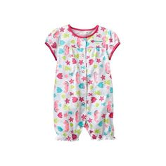 Wholesale 5pcs/lot new brand baby clothing rompers cotton baby girls summer cartoon fishes babies romper