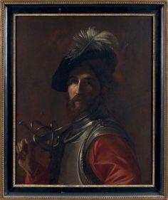 Nicolas TOURNIER (1590 - 1639) Un spadassin Toile. 72 x 58 cm