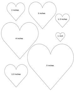 Heart Templates | Free Printable Heart Templates Large Medium Small Stencils To